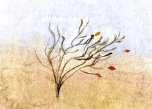 Autumn sketch - hand drawn illustration stock images
