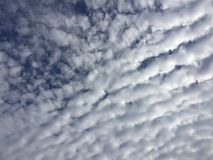 Autumn Sky Clouds Blue White Rippling Royalty Free Stock Photo