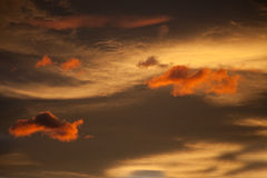 Autumn sky in   early morning. Royalty Free Stock Images
