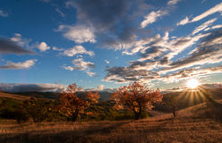 Autumn Sky. Sunrise in Stara Planina, Bulgaria Stock Photography