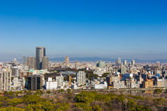 Autumn skyline of Osaka, Japan. Royalty Free Stock Photos