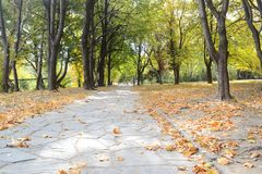 Autumn in a small Bulgarian town. Aun in a small Bulgarian town. Aun is the most beautiful season. The picture was made in a small Bulgarian town of Karlovo royalty free stock images