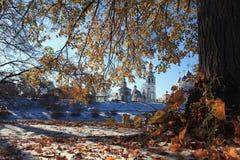 Autumn Snow Park Imagen de archivo libre de regalías