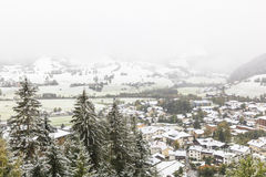 Autumn snowfall Royalty Free Stock Photo