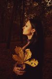Autumn sorrow stock photo