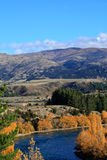 Autumn in South Island New Zealand. Stock Photo