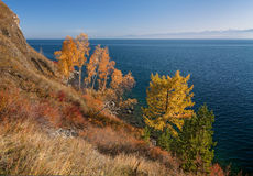 Autumn in the south of Lake Baikal Royalty Free Stock Photography
