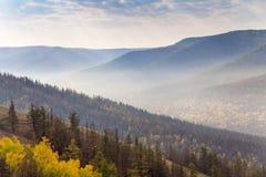 Autumn In South Ural-Berge Lizenzfreies Stockfoto