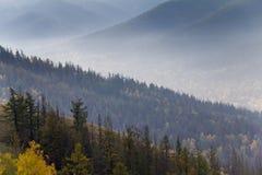 Autumn In South Ural-bergen royalty-vrije stock afbeeldingen