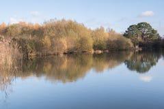 Autumn on Southampton Common Ornamental Lake stock image