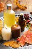 Autumn spa και aromatherapy Στοκ φωτογραφία με δικαίωμα ελεύθερης χρήσης
