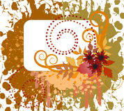 Autumn spattered background Royalty Free Stock Photo
