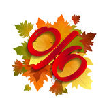 Autumn special sale. Royalty Free Stock Image