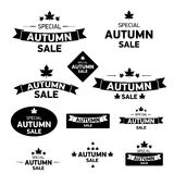 Autumn special sale vintage sticker collection Stock Image