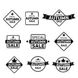 Autumn special sale vintage sticker collection Royalty Free Stock Image