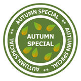Autumn special stamp Royalty Free Stock Images