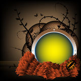 Autumn spherical frame Stock Image