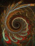 Autumn spiral. Abstract fractal background created with apophysis, this is a large file showing many details when viewed at full size Royalty Free Stock Photos
