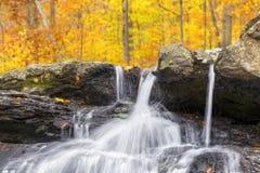 Autumn Splashing Whitewater Stockbilder