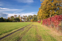 Autumn sports field. Stock Images