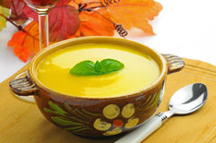 Autumn Squash Soup Stock Photo