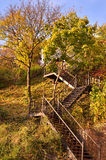 Autumn stairs Stock Photos