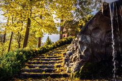 Autumn stairway Stock Images