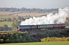 Autumn steam trips Stock Photography
