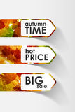 Autumn sticker Stock Photo