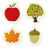 Autumn  stickers set Royalty Free Stock Photo
