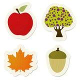 Autumn  stickers set Royalty Free Stock Photo