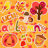 Autumn stickers Royalty Free Stock Image