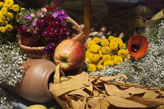 Autumn Still And Apple Royalty Free Stock Photography