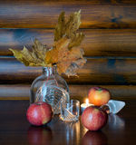 Autumn Still Life with Apples Stock Photography