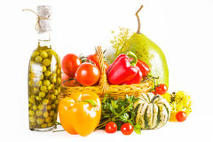 Autumn still life with different vegetables Stock Photos