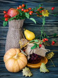 Autumn still-life with large group Stock Image