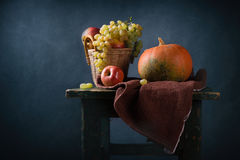 Autumn still life with pumpkins Royalty Free Stock Photo