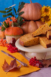 Autumn still life. Pumpkins for Halloween and Thanksgiving Day. Royalty Free Stock Image