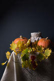 Autumn still life with pumpkins Stock Photo