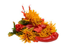 Autumn still life with red pepper Royalty Free Stock Image