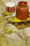 Autumn still-life for Thanksgiving Royalty Free Stock Photos