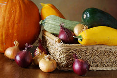Autumn still life with various vegetables Royalty Free Stock Images