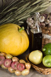 Autumn Still-life with vegetables in rural style Stock Photography