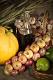 Autumn Still-life with vegetables in rural style Stock Photos