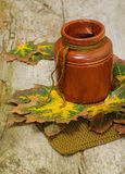 Autumn still-life. On wooden background to decorate Thanksgiving card stock photos