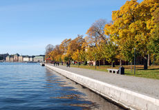 Autumn in Stockholm Stock Images
