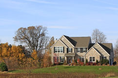 Autumn Stone Estate Royalty Free Stock Images