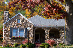Autumn Stone Home Stock Image