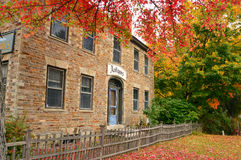Autumn Stone House Stockbilder