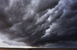 The autumn storm approaches on fields Royalty Free Stock Photography